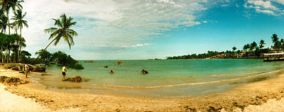 Sao Photograph - Palm Trees On The Beach, Morro De Sao by Panoramic Images