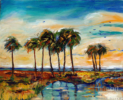 Palms At Sunset Art Print