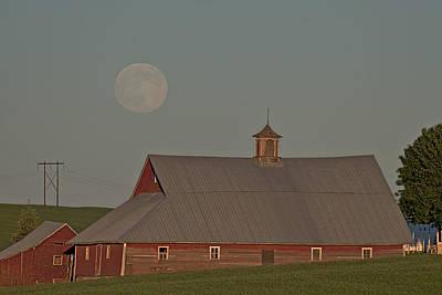 Photograph - Palouse Solstice Moon by Doug Davidson