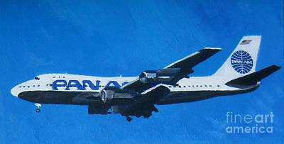 Airways Painting - Pan Am Clipper by Lesley Giles