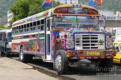 Panama Antigua Bus Art Print