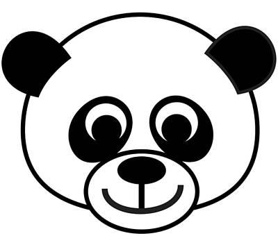 Digital Art - Panda Baby by Asbjorn Lonvig