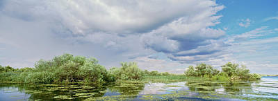 Flooding Photograph - Panorama Of Lakes And Channels by Martin Zwick