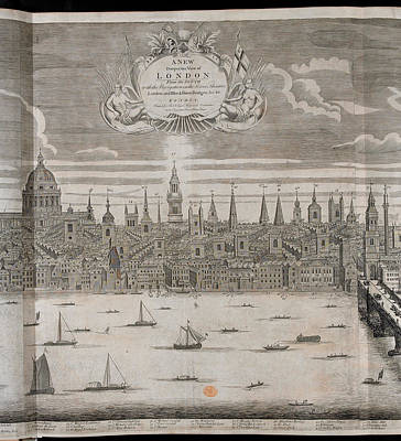 Panorama Of London Art Print by British Library