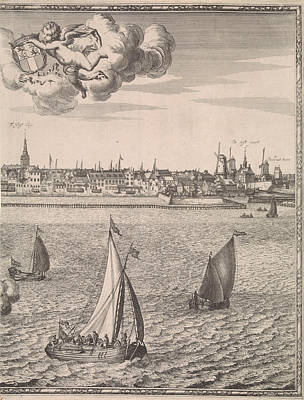 Extremes Drawing - Panorama Of Rotterdam, The Netherlands, Jan Houwens by Jan Houwens (i) And Jacob Quack