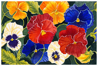 Painting - Pansies by Katherine Miller