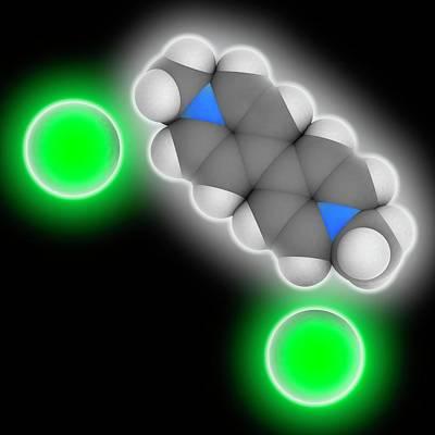 Paraquat Herbicide Molecule Art Print