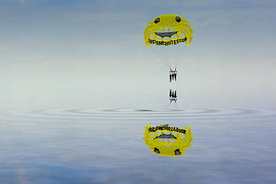 Photograph - Parasailing by Kevin Cable