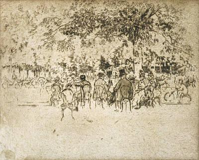 Paris Champs Elysees Art Print by Granger