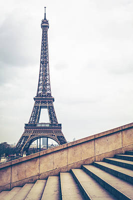 Photograph - Paris Eiffel Tower by Deimagine