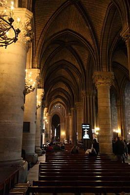 Lamp Photograph - Paris France - Notre Dame De Paris - 01132 by DC Photographer