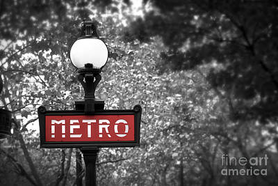 Iron Photograph - Paris Metro by Elena Elisseeva