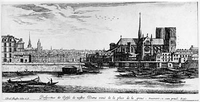 Ile St Louis Painting - Paris Notre Dame, 1600s by Granger
