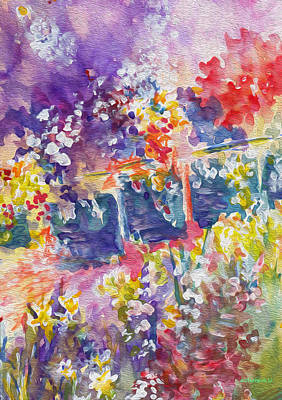 Painting - English Floral by Kathy Bassett