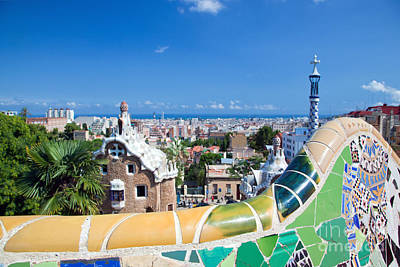 Modernism Photograph - Park Guell In Barcelona by Michal Bednarek