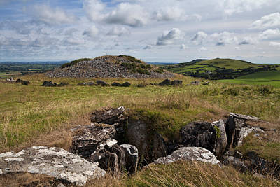 Grave Photograph - Passage Grave,carbane West, Loughcrew by Panoramic Images