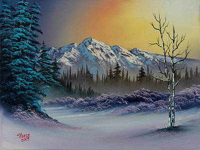 Bob-ross-style Painting - Frosty Enchantment by C Steele