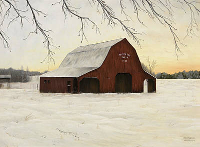 Patterson Barn Art Print by Mary Ann King