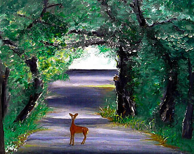 Painting - Paynes Prairie Fawn by Christy Usilton