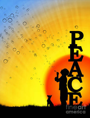 Best Friend Photograph - Peace by Tim Gainey