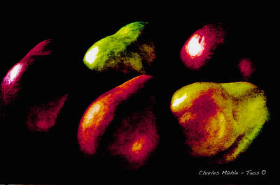 Mixed Media - Pears by Charles Muhle