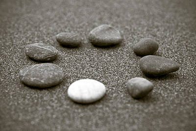 Bokeh Photograph - Pebbles by Frank Tschakert