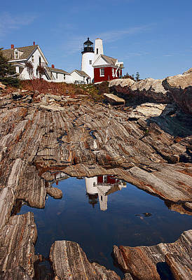 Lighthouse Photograph - Pemaquid Point Lighthouse by Marcia Colelli