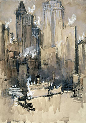 Moody Painting - Pennell New York City, C1924 by Granger