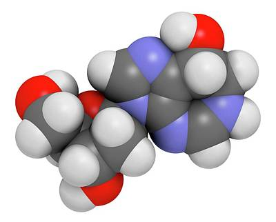Pentostatin Cancer Drug Molecule Art Print