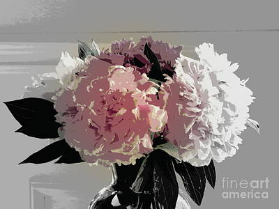 Photograph - Peony Bouquet by France Laliberte