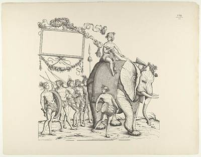 Adolf Drawing - People From Calicut, From The Triumphal by Hans Burgkmair