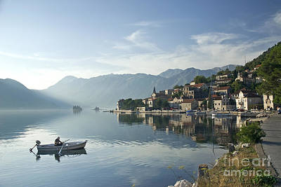 Word Signs - Perast Village In Montenegro by JM Travel Photography