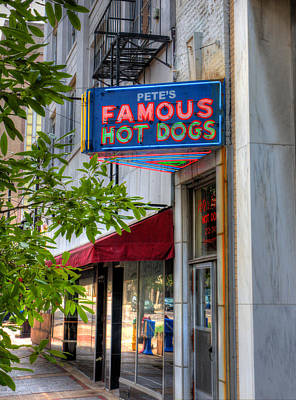 Photograph - Pete's Famous Hot Dogs by Fred Baird