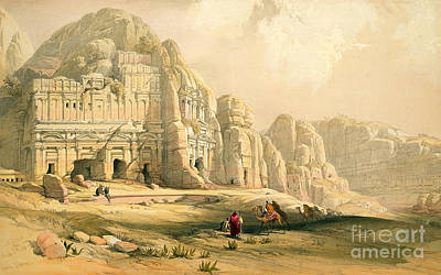 Nabatean Painting - Petra by David Roberts