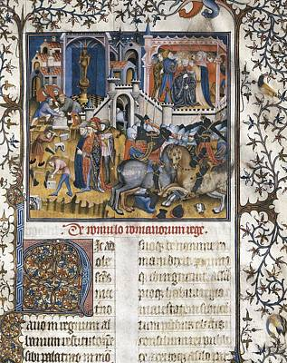 Fine Art Miniatures Photograph - Petrarch 1304-1374. Italian Humanist by Everett