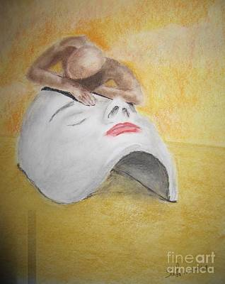 Phantom In The Desert Art Print by Safa Al-Rubaye