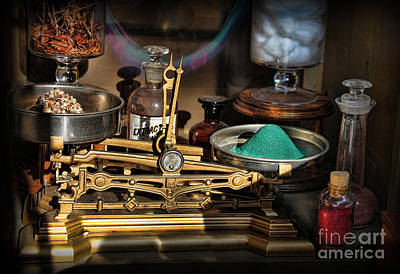 Photograph - Pharmacist - Apothecary Scale by Lee Dos Santos