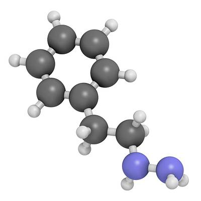 Antidepressant Photograph - Phenelzine Antidepressant Molecule by Molekuul