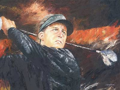 Golf Art Painting - Phil Mickelson by Christiaan Bekker
