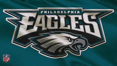 Uniforms Photograph - Philadelphia Eagles Uniform by Joe Hamilton