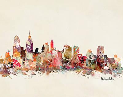 Philadelphia Skyline Print by Bri B