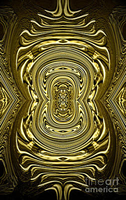 Digital Art - Phone Case Golden Abstract 1 by Gabriele Pomykaj