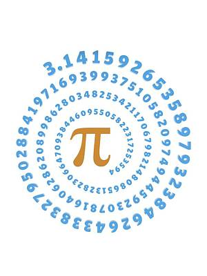 Pi Symbol And Number Art Print by Alfred Pasieka