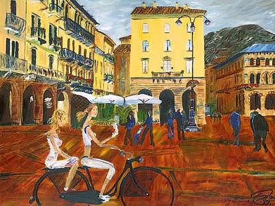 Piazza De Como Art Print by Gregory Allen Page