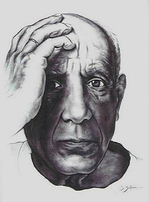 Sepia Chalk Mixed Media - Picasso by Guillaume Bruno