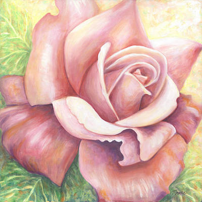 Rose Painting - Pink  Rose One by Linda Mears