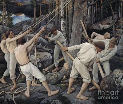 Pekka Wall Art - Painting - Pioneers In Karelia by Celestial Images