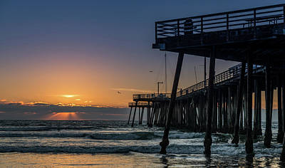 Luis Photograph - Pismo Beach Pier At Sunset, San Luis by Panoramic Images