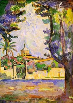 St.tropez Painting - Place Des Lices St Tropez by Henri Matisse