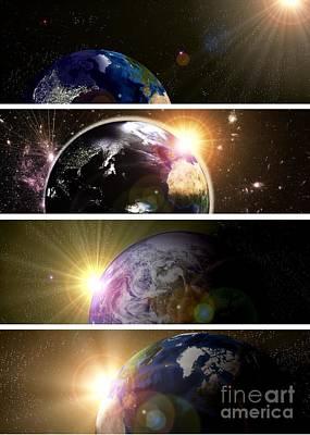 Digital Art - Planet Earth  by Martin Capek